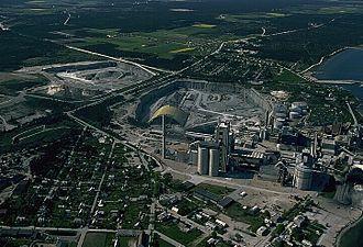 Slite - Aerial view of Slite