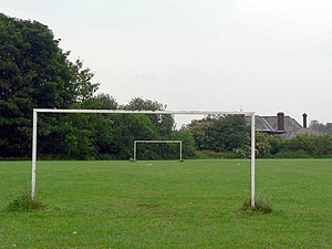 Small football pitch, behind Horsforth Woodsid...
