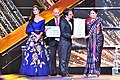 Smriti Irani presenting the Life Time Achievement Award to the Canadian film maker, Atom Egoyan, at the closing ceremony of the 48th International Film Festival of India (IFFI-2017), in Panaji, Goa.jpg