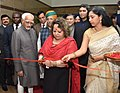 Smt. Salma Ansari, wife of the Vice President, Shri M. Hamid Ansari, inaugurating a Photo Exhibition on India-Nigeria Relations at the High Commission of India, in Abuja, Nigeria.jpg