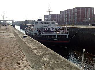 Mersey Ferry - Snowdrop at Irlam Locks on the Manchester Ship Canal