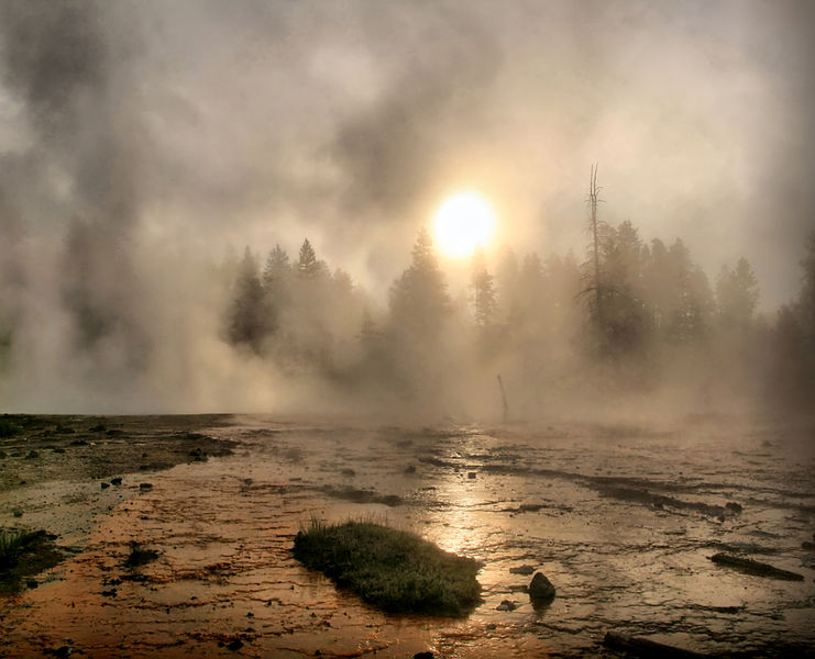 File:Solar coronae created by the steam getting out hot springs.jpg