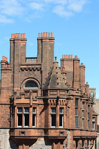 Dunn & Findlay - Solicitors Buildings, Cowgate, Edinburgh - rooftop details