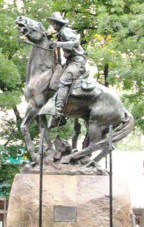 <i>Bucky ONeill Monument</i> statue by Solon Borglum in Arizona