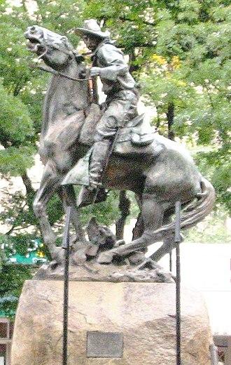 Solon Borglum - Bucky O'Neill Monument, Rough Rider  Prescott, Arizona