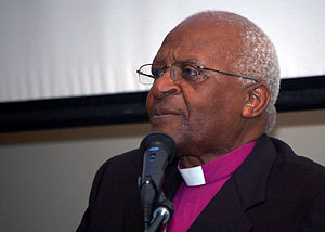 South African Anglican Archbishop Desmond Tutu...