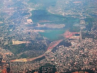 Chennai Mass Rapid Transit System - Aerial view of MRTS during the time of construction