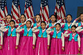 South Korean girls perform during an event marking the 60th anniversary of the armistice agreement ending the war July 27, 2013, at the Korean War Veterans Memorial in Washington, D.C 130727-A-VS818-136.jpg