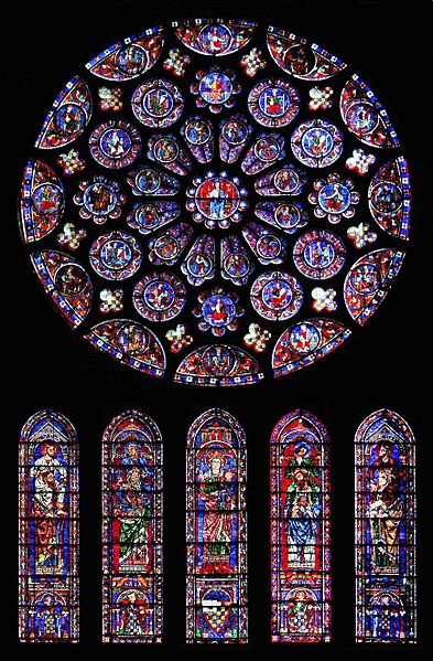 South rose window of Chartres Cathedral
