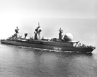 Command and control - The Soviet nuclear-powered command and control naval ship SSV-33 Ural.