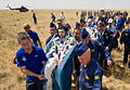 Soyuz TMA-03M crew shortly after landing - cropped.jpg