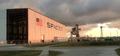 SpaceX KSC LC-39A hangar progress, June 2015 (18039170043).png