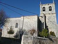 Spain Pedrosa de Rio Urbel iglesia lateral.jpg