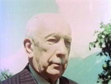 Richard Strauss in Garmisch, 1945, Standbild aus einer Filmaufnahme (Quelle: Wikimedia)