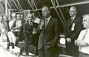 Spiro Agnew Congratulates Launch Control After Launch of Apollo 17 - GPN-2002-000058