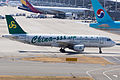 Spring Airlines ,9C8589 ,Airbus A320-214 ,B-6863 ,Arrived from Shanghai ,Kansai Airport (16662493725).jpg