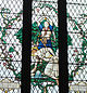 St Alban - stained glass at St Albans' Cathedral.jpg