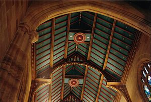 Edmund Blacket - Bright colours such as those on the hammer-beam roof at St Andrew's Cathedral were advocated by Augustus Welby Pugin.