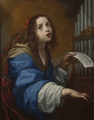 St Cecilia Playing the Organ