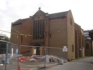 Friary Church of St Francis and St Anthony, Crawley - The church undergoing renovation in February 2009