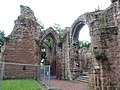 St John the Baptist Parish Church, Chester - remains of former east end east of present building 03.jpg