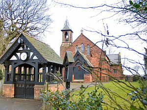 Whitley, Cheshire - Image: St Luke's Church, Lower Whitley