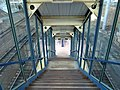Stairway interior at New Haven State Street station, May 2013.JPG