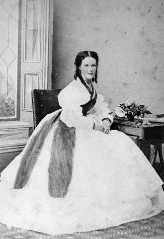William Alcock Tully - Tully's second wife Sarah Darvall  c. 1868