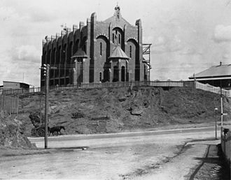 St Brigid's Church, Red Hill - Construction of St Brigid's Church, Red Hill, Brisbane, 1914