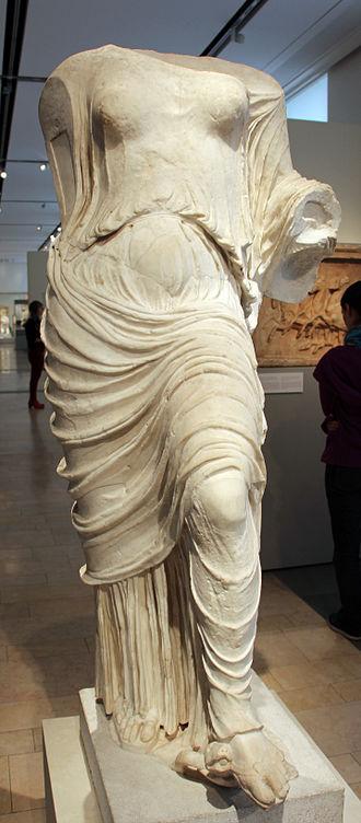 Aphrodite Urania - Statue of the so-called 'Aphrodite on a tortoise', 430-420 BCE, Athens.