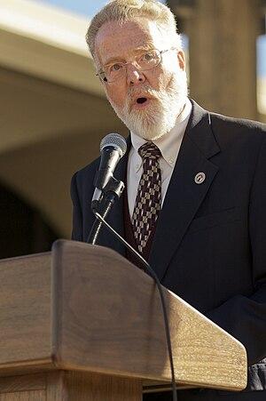 History of San Diego State University - Stephen Weber, SDSU's former president, speaking in December 2007