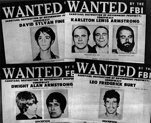 Sterling Hall bombing - FBI wanted posters published shortly after the bombing