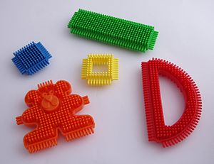 Stickle Bricks - A selection of stickle bricks.