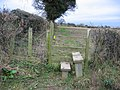 Stile on the Footpath from Flint to Bagillt - geograph.org.uk - 325955.jpg