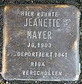 Stumbling block for Jeanette Mayer (Poststrasse 17)