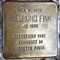 Stolperstein Delmenhorst - Siegmund Fink (1896).JPG