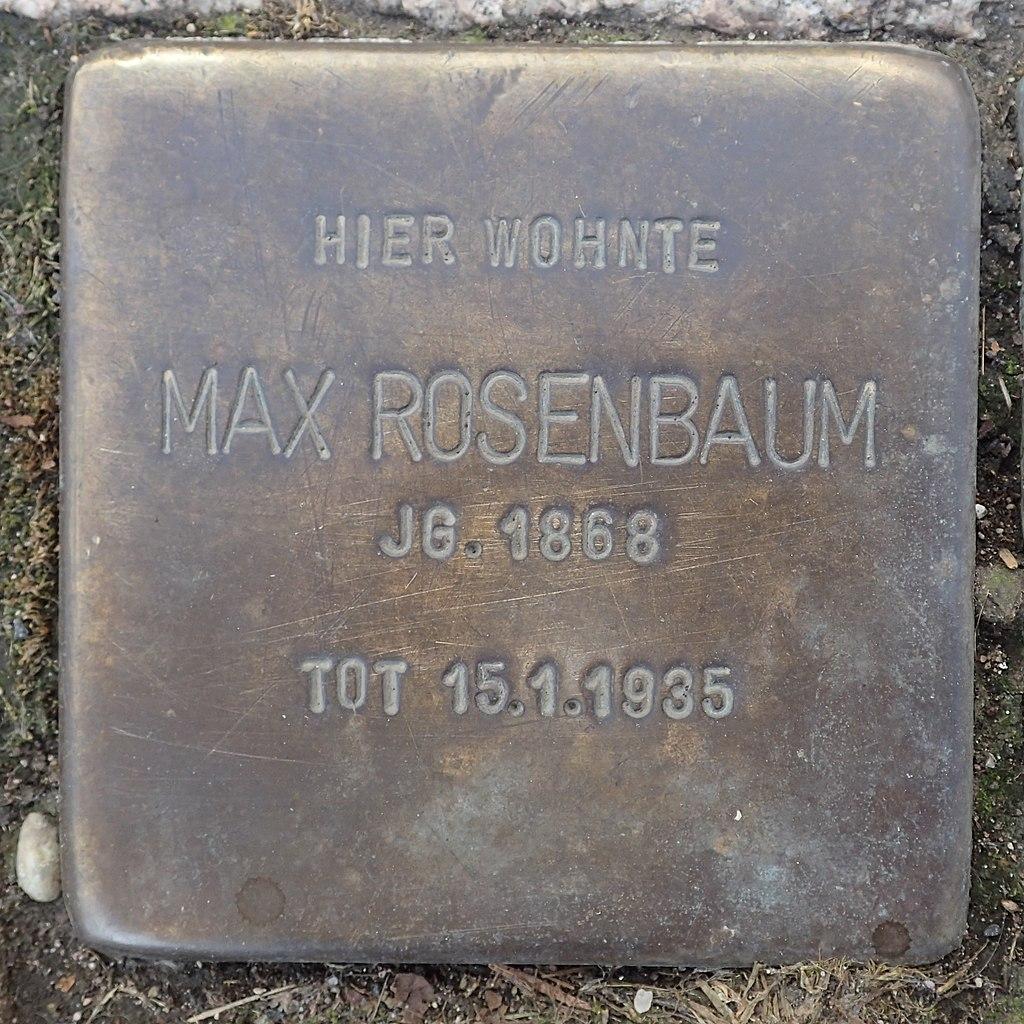 Stolperstein Duderstadt Marktstraße 37 Max Rosenbaum