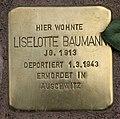 Stolperstein Pariser Str 11 (Wilmd) Liselotte Baumann.jpg