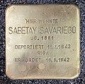 Stolperstein Rungestr 16 (Mitte) Sabetay Savariego.jpg
