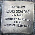 Stolperstein Sakrower Kirchweg 70a Kladow Louis Schloss 2012.jpg
