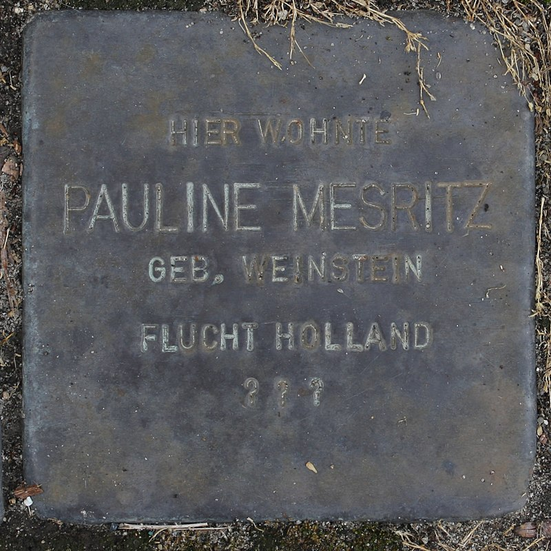 Stolperstein Wendeburg Am Betonwerk 2 Pauline Mesritz.jpg
