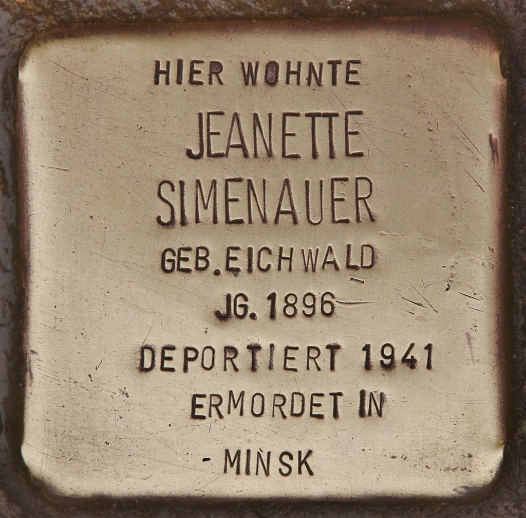 Stolperstein für Jeanette Simenauer (Kappeln).jpg