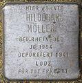 Stolpersteine Köln, Hildegard Möller (Kleingedankstraße 16).jpg