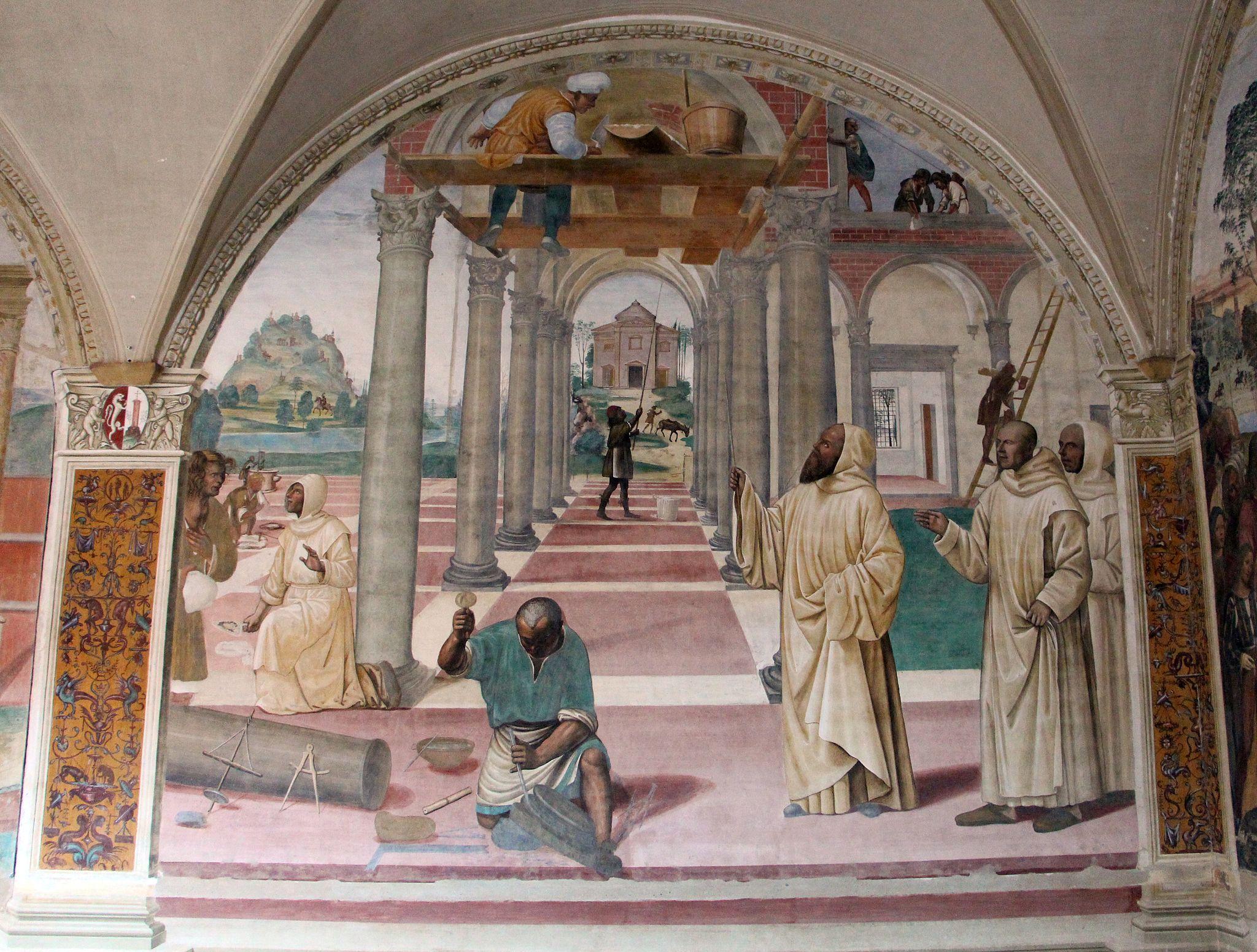 Storie di s. benedetto, 11 sodoma - Come Benedetto compie la edificazione di dodici monasteri 01