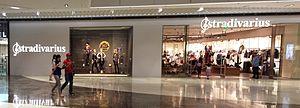 Stradivarius (clothing brand) - A Stradivarius clothing store in the SM Aura Premier mall in Bonifacio Global City, Metro Manila, Philippines.