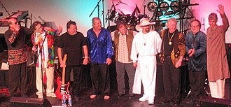 Ed King - King (third from left) with a reunited Strawberry Alarm Clock in 2007