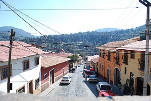 Tlalpujahua - Looking over town from parish church