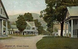 Sharon, Vermont - Street scene c. 1906