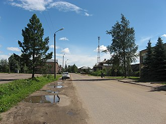 Novoduginsky District - A street in the selo of Novodugino, the administrative center of the district