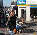 Street performer, Sutton High Street, Sutton, Surrey, Greater London.jpg